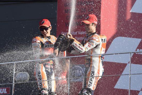 Course finale motoGP 2015 : Marquez et Pedrosa sur le podium pour bien terminer